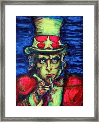 Uncle Sam Framed Print by Hannah Curran