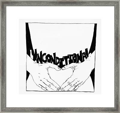 Unconditional Framed Print by Sara Young
