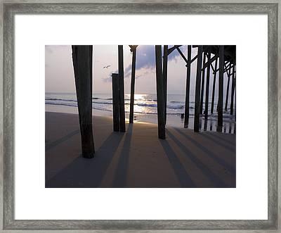 Under Pier Framed Print by Paul Boroznoff