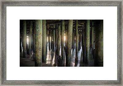 Under The Boardwalk Framed Print by Kristopher Schoenleber