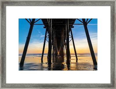 Under The Oceanside Pier Framed Print