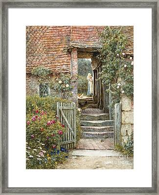 Under The Old Malthouse, Hambledon, Surrey Framed Print by Helen Allingham