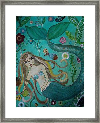 Under The Sea Framed Print by Pristine Cartera Turkus