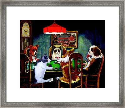 Under The Table Framed Print
