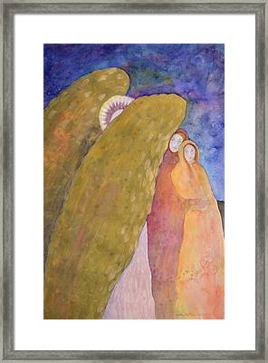Under The Wing Of An Angel Framed Print