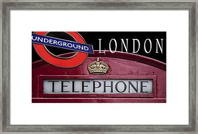 Underground London Framed Print by Daniel Hagerman