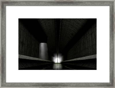 Underground Sewer Framed Print by Allan Swart