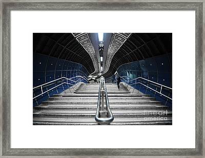 Underground Stair Framed Print by Svetlana Sewell