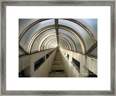 Underground Vault Framed Print by Yali Shi
