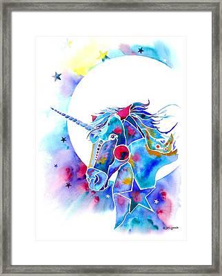 Unicorn Magic Framed Print by Jo Lynch