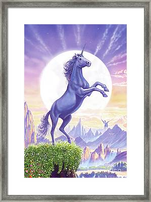 Unicorn Moon Framed Print