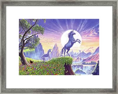 Unicorn Moon Framed Print by Steve Crisp