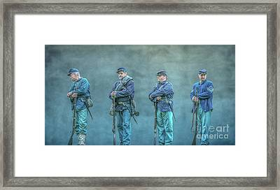 Union Civil War Soldiers  Framed Print by Randy Steele