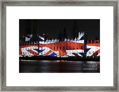 Union Jack Framed Print by John Rizzuto