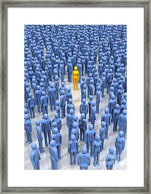 Uniqueness, Conceptual Artwork Framed Print