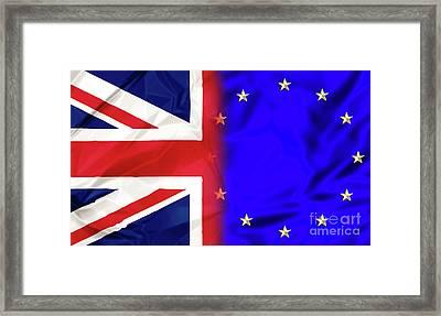 United Kingdom And Europe Framed Print