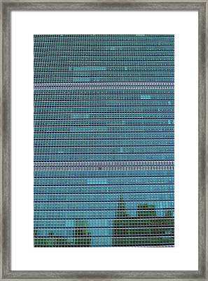 Framed Print featuring the photograph United Nations Secretariat Building by Mitch Cat