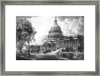 United States Capitol Building Framed Print