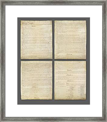 United States Constitution, Usa Framed Print