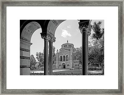 University Of California Los Angeles Powell Library Framed Print by University Icons