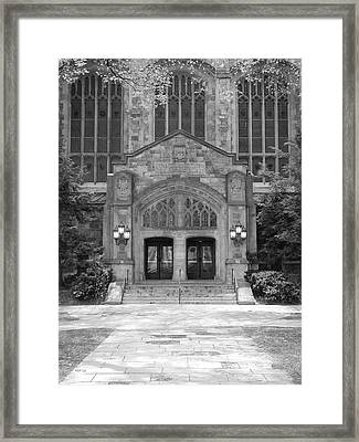 University Of Michigan Law Quad Framed Print by Phil Perkins