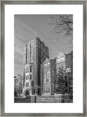 University Of Michigan Union Framed Print by University Icons