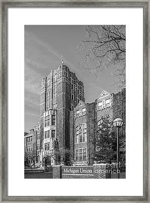 University Of Michigan Union Framed Print by University Icons