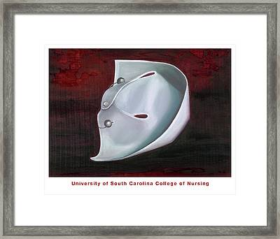 Framed Print featuring the painting University Of South Carolina College Of Nursing by Marlyn Boyd