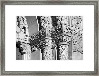 University Of Southern California Detail Framed Print by University Icons