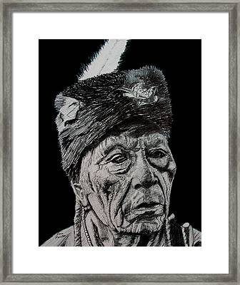 Unknown Indian IIi Framed Print by Stan Hamilton