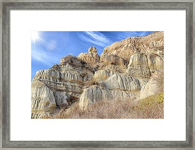 Unstable Cliffs Framed Print
