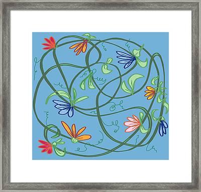 untitled Floral Framed Print by Denny Casto