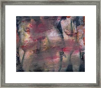 Untitled Male And Female Nudes, 2016 Framed Print