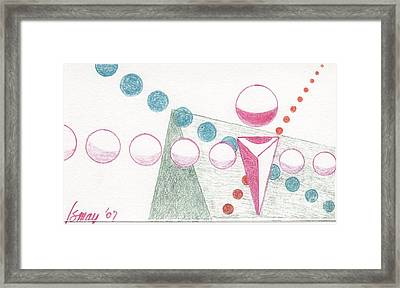 Framed Print featuring the drawing Still Motion by Rod Ismay
