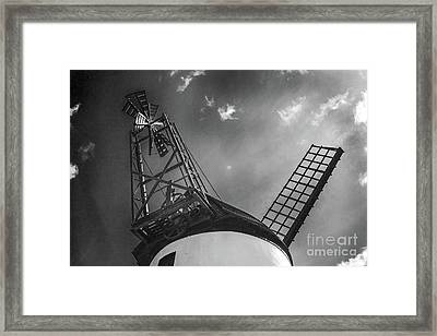 Unusual View Of Windmill - St Annes - England Framed Print