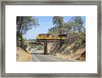Up8968  Framed Print