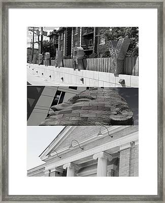 Framed Print featuring the photograph Uptown Library by Susan Stone