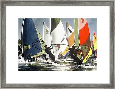 Upwind Leg Framed Print