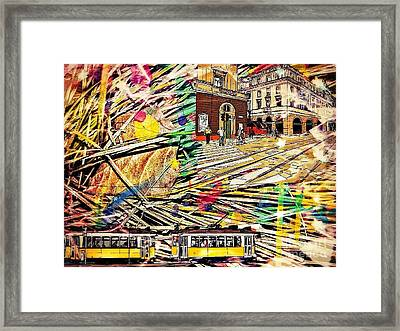 Urban Abstract, Collage,oil Framed Print by Olga Lyakh