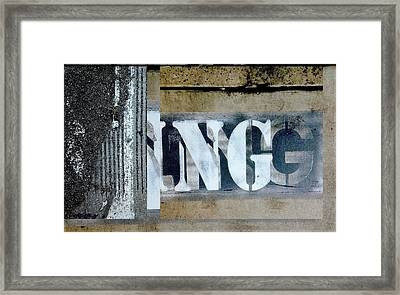Urban Abstracts Seeing Double 38 Framed Print