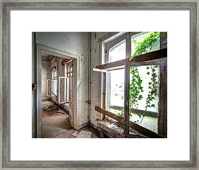 Urban Decay Nature Takes Over - Abandoned Building Framed Print
