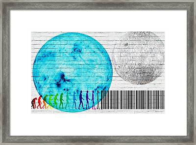 Urban Graffiti - Binary Evolution Framed Print