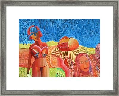 Urunthrumymindlikeawaterfallpoem Framed Print by Richard Heley
