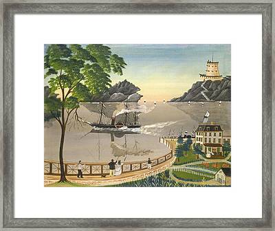 U S Mail Boat Framed Print