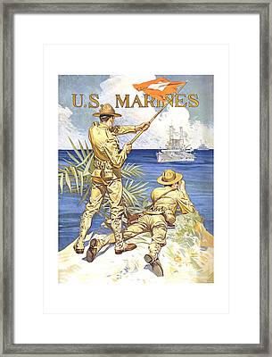 Us Marines - Ww1 Framed Print by War Is Hell Store