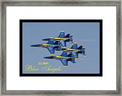 Us Navy Blue Angels Poster Framed Print