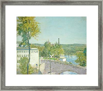 U.s. Thread Company Mills, Willimantic, Connecticut Framed Print