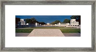 U.s. World War II Memorial Framed Print by Panoramic Images