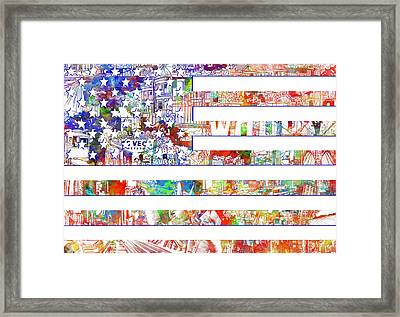 Usa Flag 13 Framed Print by Bekim Art