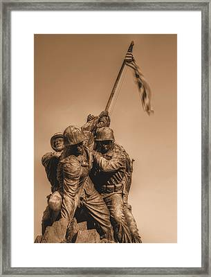 Usmc Framed Print by JC Findley